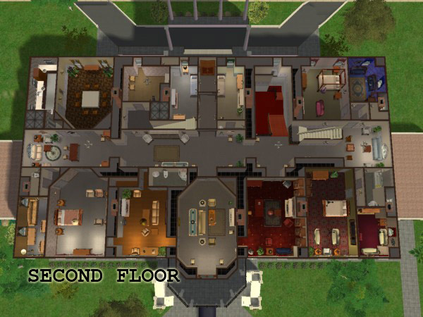 Mod The Sims  The White House  Fully Furnished with Maxis Content