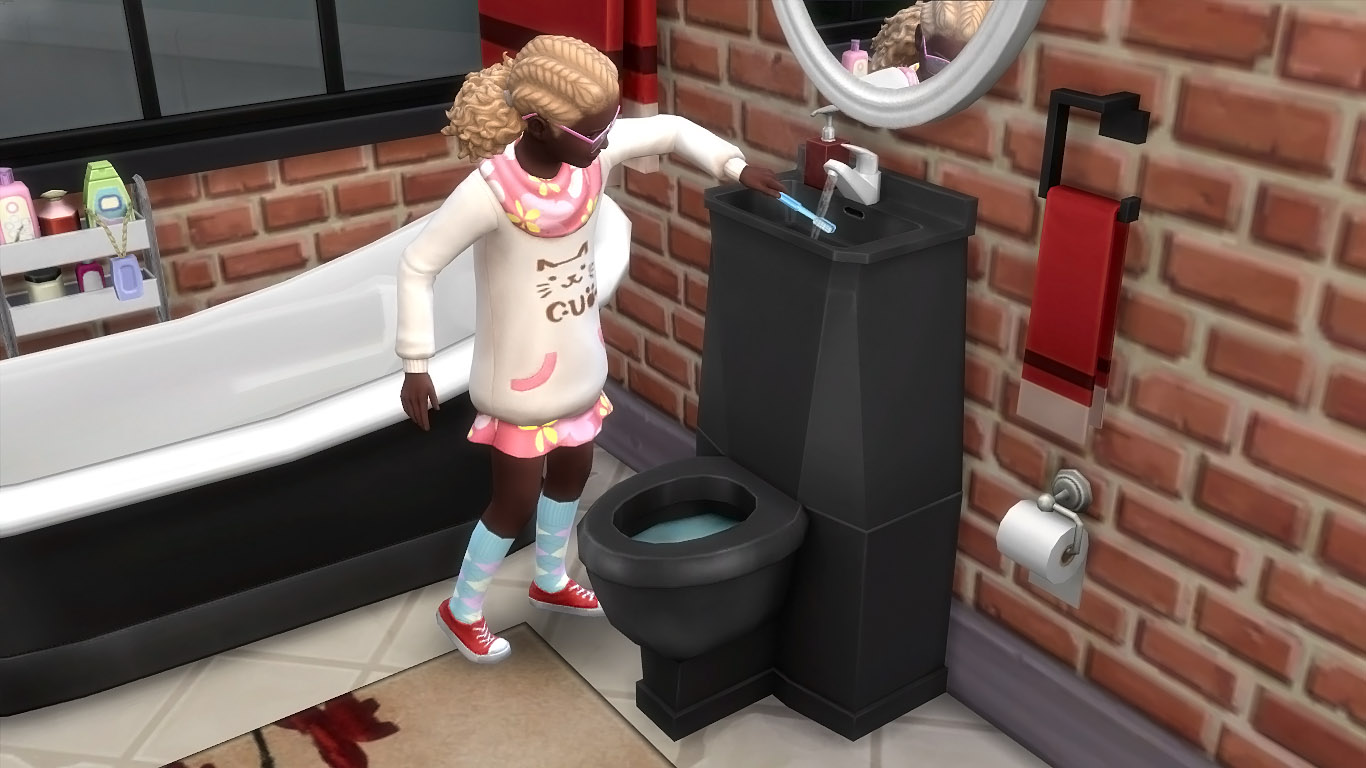 mod the sims modern toilet sink combo