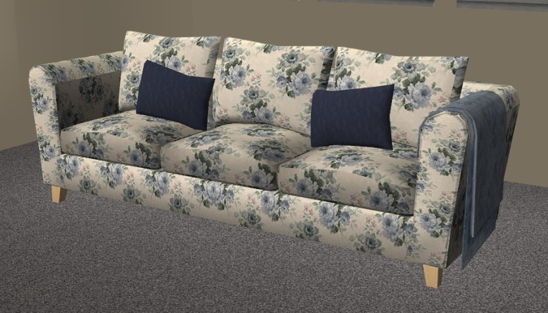 loveseat or sofa difference eggplant mod the sims - blue floral seating set
