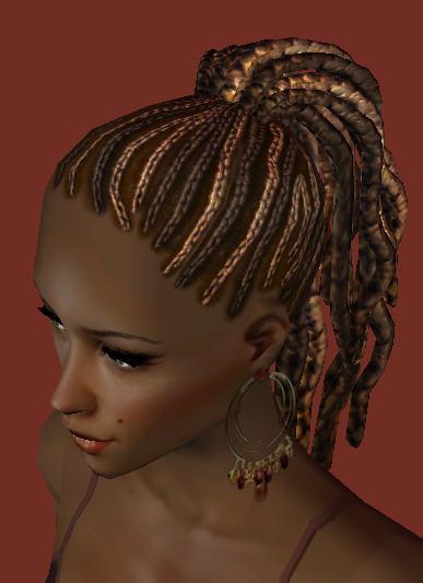 Mod The Sims Nouk Afro Knot Hair Nice Afro Hair For