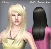 mod sims - nouk's tommie hair