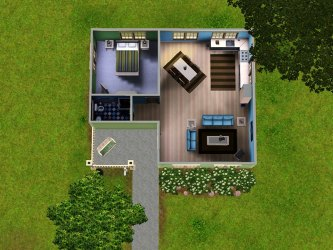 sims bungalow plans cheap layout houses bedroom stereotypical modern pretty lil mod living stunning entry opening