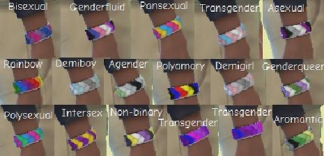 Mod The Sims  Pride Bracelets for Male Sims Leather