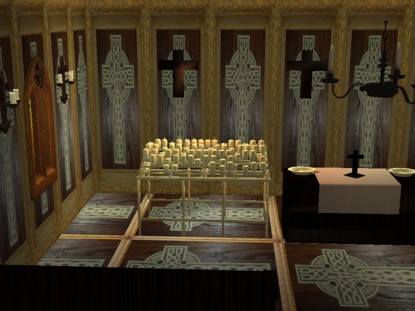 Mod The Sims  SS2 Church Set  Black and Gold
