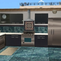 Slate Kitchen Backsplash Full Set Mod The Sims - More Tile And Sets