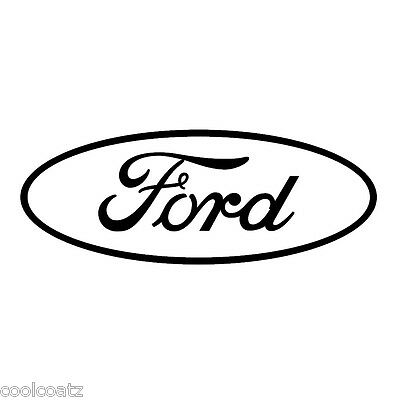 Oval ford truck window decal