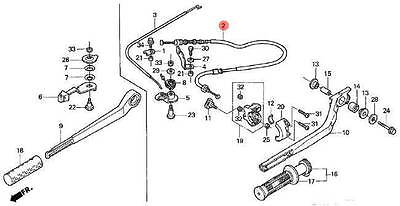 NEW Honda Tiller Handle Kit (Long) 06533-ZW2-F60ZA 2004