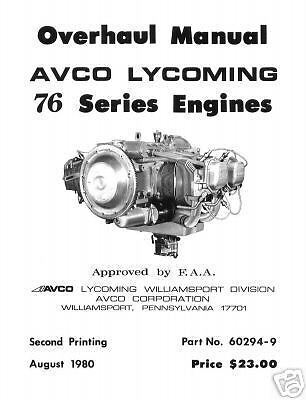 Aircraft Manual: Lycoming O-360 O-540 Aircraft Engine