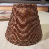 Amber glass seed bead wire strung Small lamp shade