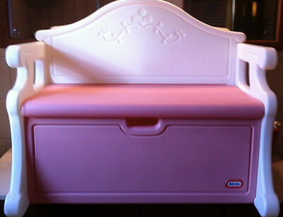 little tikes doll high chair truck tailgate vintage retired child full size pink victorian bench toy box
