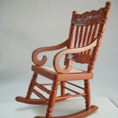 Woven Rocking Chair Design Reproduction Seat 1 733 Miniature Dollhouse