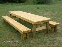 picnic table plans free separate benches | Quick ...