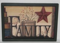 "Primitive Country Family 9"" X 13"" WALL DECOR Beautiful ..."