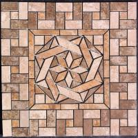 "22 1/4"" Ceramic Tile Medallion"
