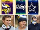 NFL Fleece Lined Warm Face Scarf Mask  Seattle Seahawks Football Team Gift NEW