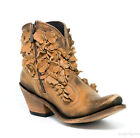 LB711549B LIBERTY BLACK STONE WASHED RES DELANO LEATHER FLORAL ANKLE BOOTS