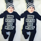 US STOCK Fashion Baby Boys Girls Infant Romper Jumpsuit Bodysuit Clothes Outfits