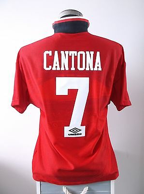 Continuing our series of classic united late winners, here we have a retro version of eric cantona's winning goal against liverpool to seal the 1996 fa cup. 1996-1997 Manchester United Home Cantona 7 Football Shirt ...