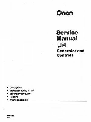ONAN DL4 DL6 DL6T Generator and Controls Service Manual