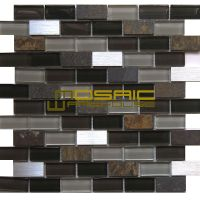 "Glass, Stone, and Metal Mosaic Tile, ""Litho Collection"" GM"