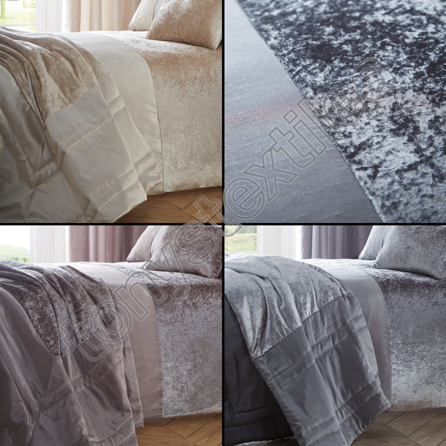 grey crushed velvet chair covers advantage church chairs luxury panel quilt duvet cover bedding set