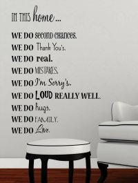 In This HOME... Vinyl lettering wall art words quotes ...
