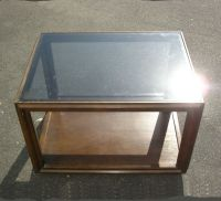 Vintage Mid-Century Modern Two Tier Glass Top END TABLE ...