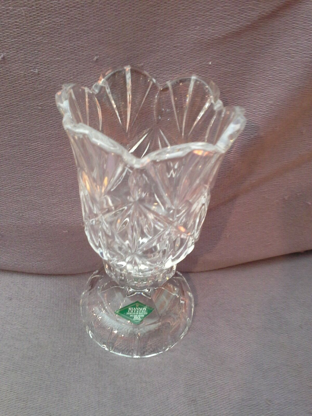 A Shannon Crystal Design Of Ireland Candle Holder For A 4