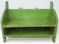 Antique Primitive Tramp Art Wall Shelf Desirable Old Green ...
