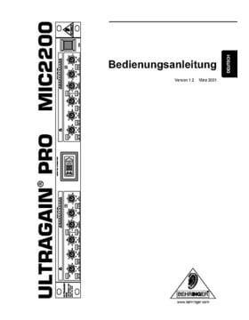 Behringer MIC2200 Ultragain Pro Mic-Preamp