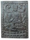 ANTIQUE BUDDHA WALL PANEL VITARKA MUDRA BUDDHA CARVING WOOD WALL HANGING
