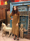 BOHO CHIC Maxi Dress Earth Angel Embroidered Stonewashed HIPPY FASHION Dress L