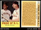 1963 Topps #138 Willie Mays / Stan Musial - Pride of NL   Cardinals / Giants EX