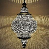 Moroccan Silver Plated Pendant Lamp Chandelier Lighting