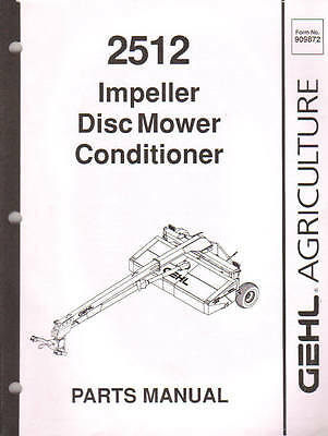 M&W HC5 HC6 HC7 Disc Mower Illustrated Parts Manual