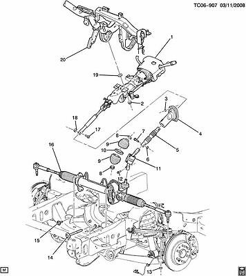 Neutral Switch Gm Tilt Steering Column Diagram