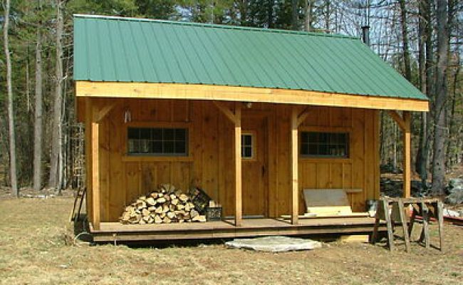 12 X 20 Building Cottage Shed With Porch Plans 81220