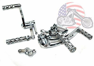 Chrome Daniel Boone Forward Controls Control Kit Harley
