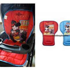 High Chair Pad Graco Wheel Dimensions 2 Side Mickey Mouse Baby / Car Seat Cover Stroller Pram Liner