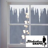 Christmas Decoration ICICLES Window Stickers Decals Vinyl ...