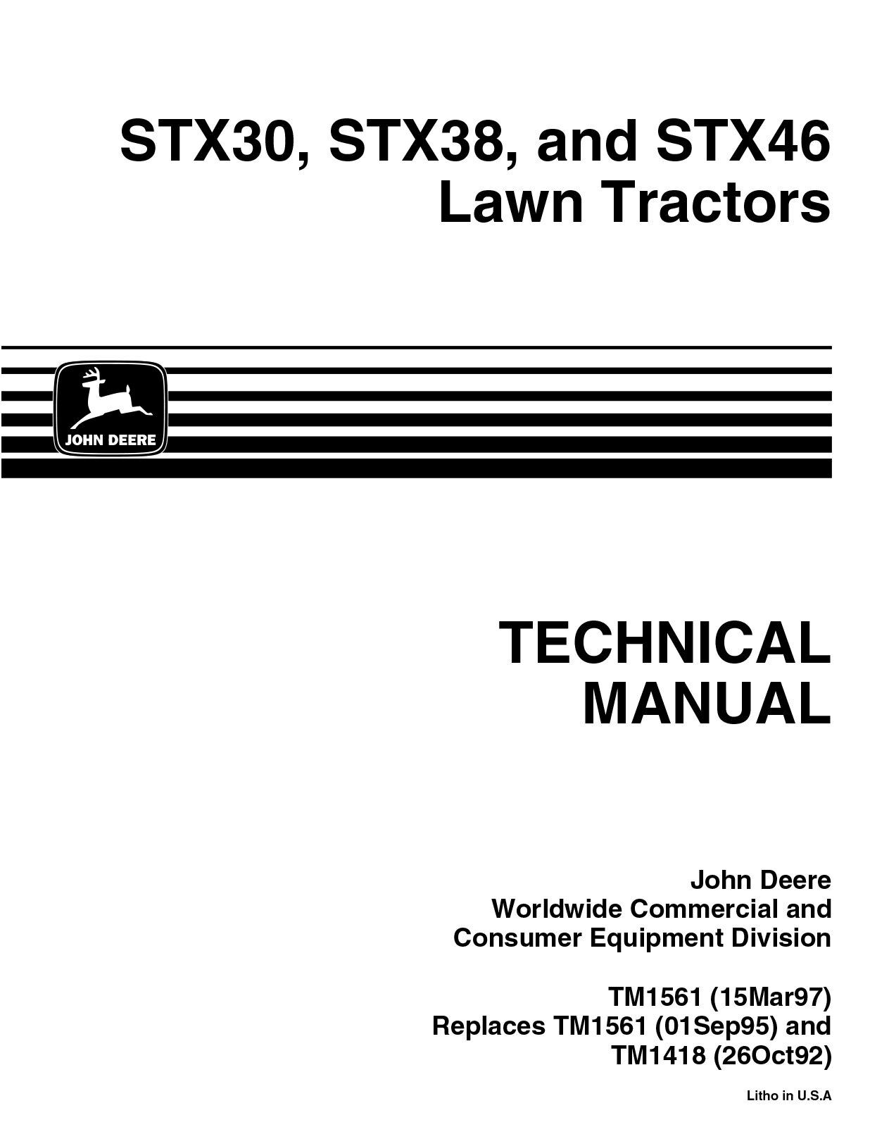 john deere wiring diagram stx38 eclipse sequence from code stx30 stx46 lawn tractors technical