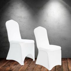 Spandex Chair Covers Canada Orange Side White Lycra Cover Arched Flat Front