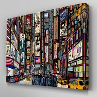 AB624 New York Times Square Sketch Canvas Wall Art ...
