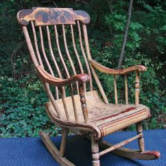 Yellow Rocking Chair Purple Computer Quotboston Rocker 19th C Antique Quot