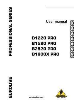 Behringer B1800X Pro