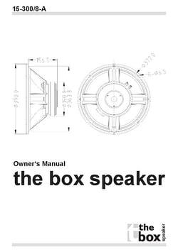 the box Speaker 15-300/8-A Lautsprecher