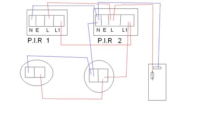 wiring diagram for pir lights
