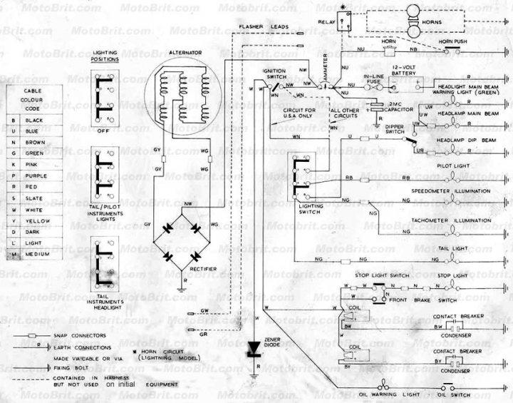 America Triumph Motorcycle Wiring Diagram. Wiring. Wiring