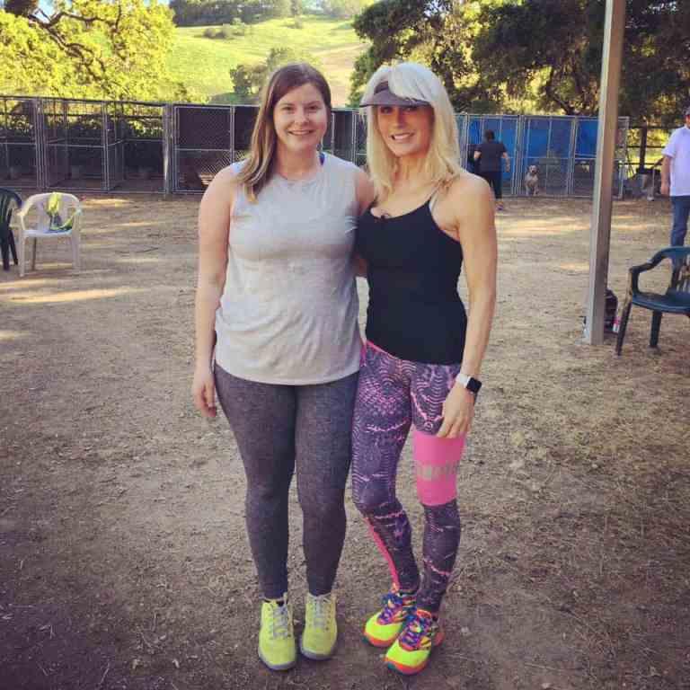 Dog Trainer Emma Tucker and mentor Cheri Lucas