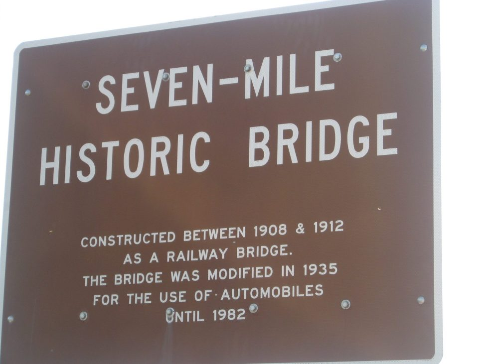 Seven Mile Bridge Sign - Things to do in Michigan's Thumb